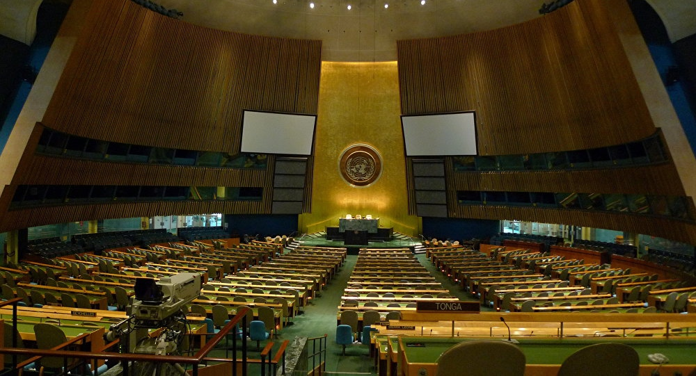 "The UN General Assembly saw self-declared ""Interim President"" Juan Guaido's team struggle to assert themselves. (randomised.org)"