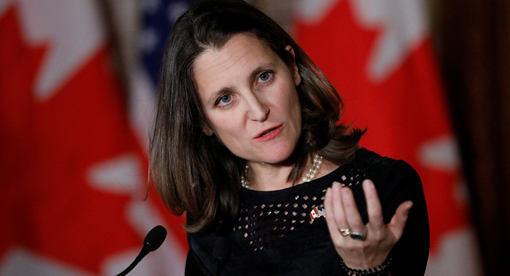 Canada's Foreign Minister Chrystia Freeland has led efforts to isolate Venezuela (Blair Gable / Reuters)