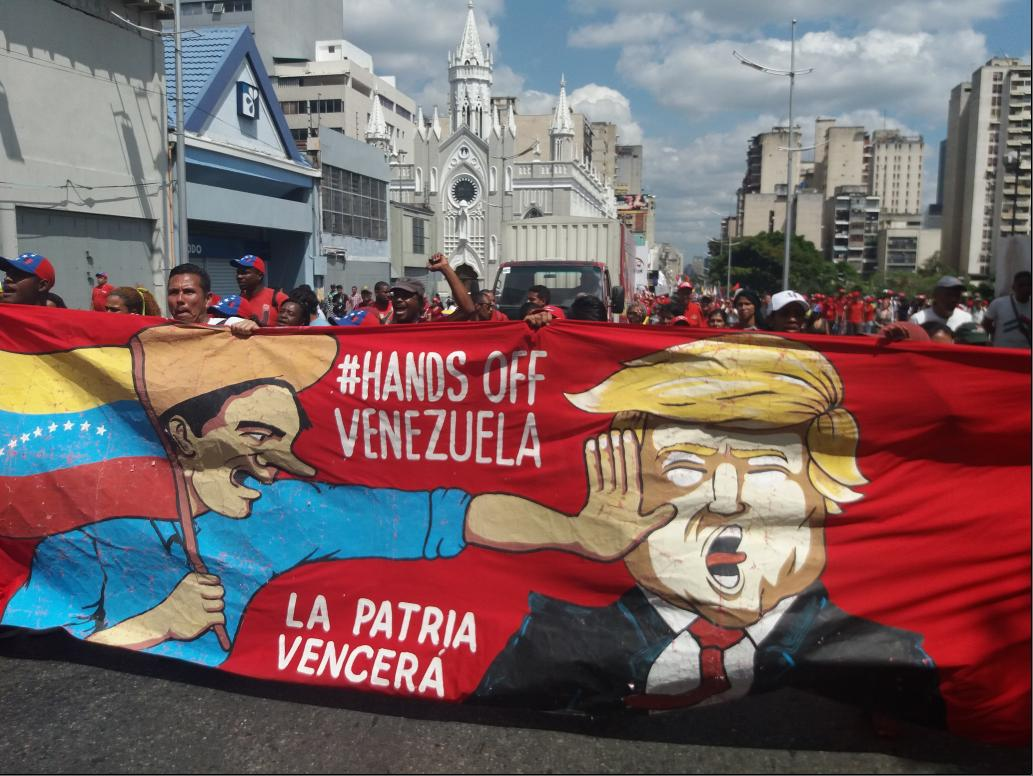 An anti-imperialist march was held in Caracas on Saturday, March 9. (Ricardo Vaz)