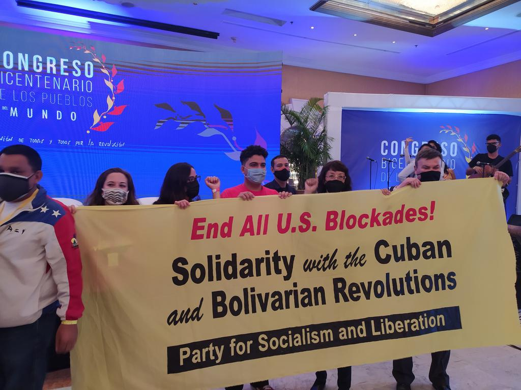 The international event reinforced the continental anti-capitalist struggle and condemned the US blockade against Cuba and Venezuela. (Twitter / @CBPMundo)