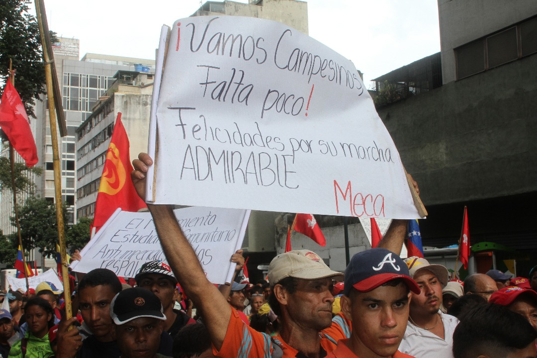 Revolutionary movements and activists joined the Admirable Campesino March with messages of solidarity.