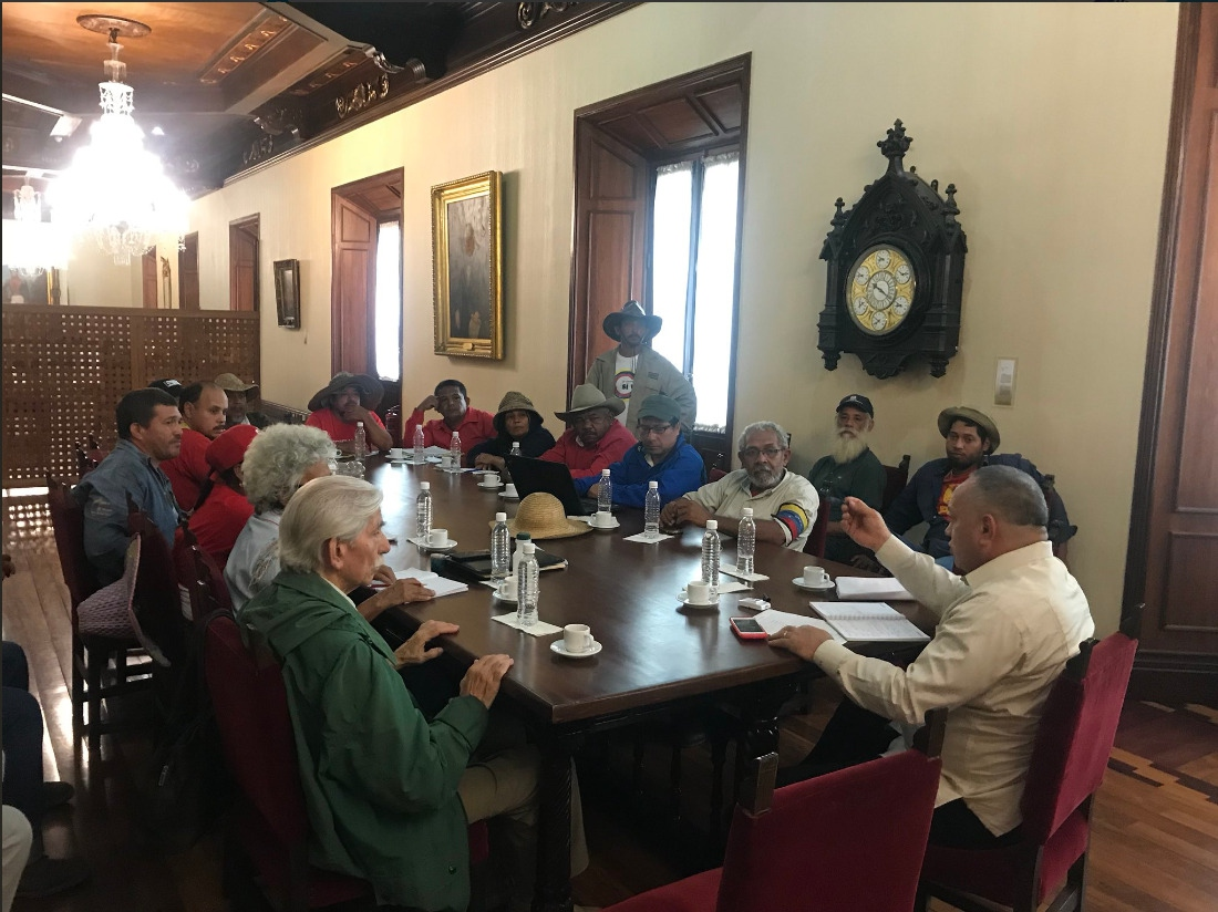 Although the march did not achieve a one on one meeting with President Maduro, the president of the National Constituent Assembly (ANC), Diodado Cabello met with a small delegation to discuss their demands.