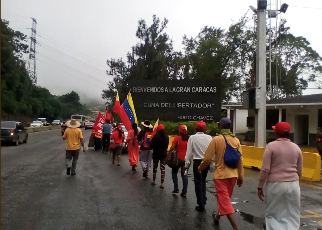 In the early hours of the morning on August 1, the Admirable Campesino March entered the greater areas of Caracas.