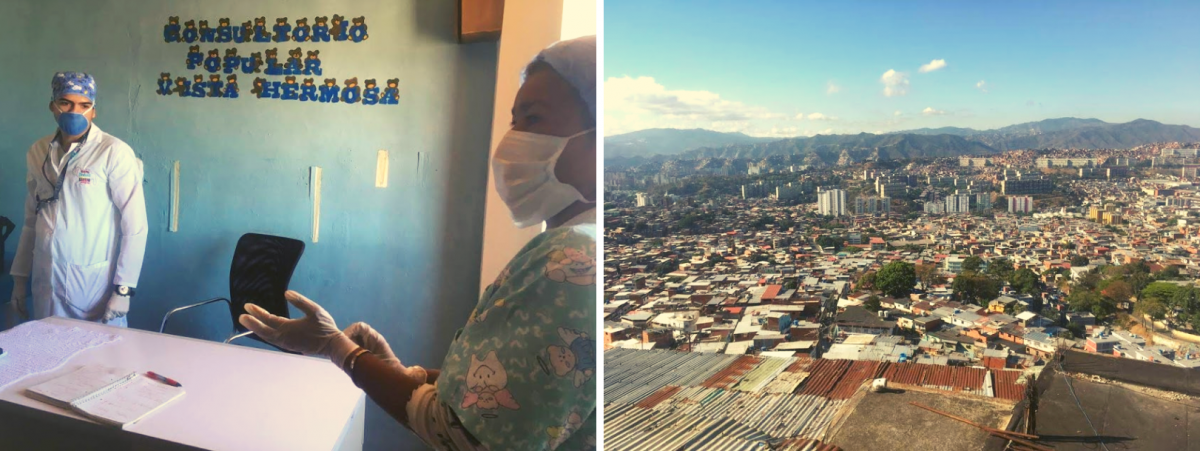 Doctor Gutierrez and Nurse Marquez / View from Doctor Gutierrez's office. (Javier Gómez and Cira Pascual Marquina / Venezuelanalysis)