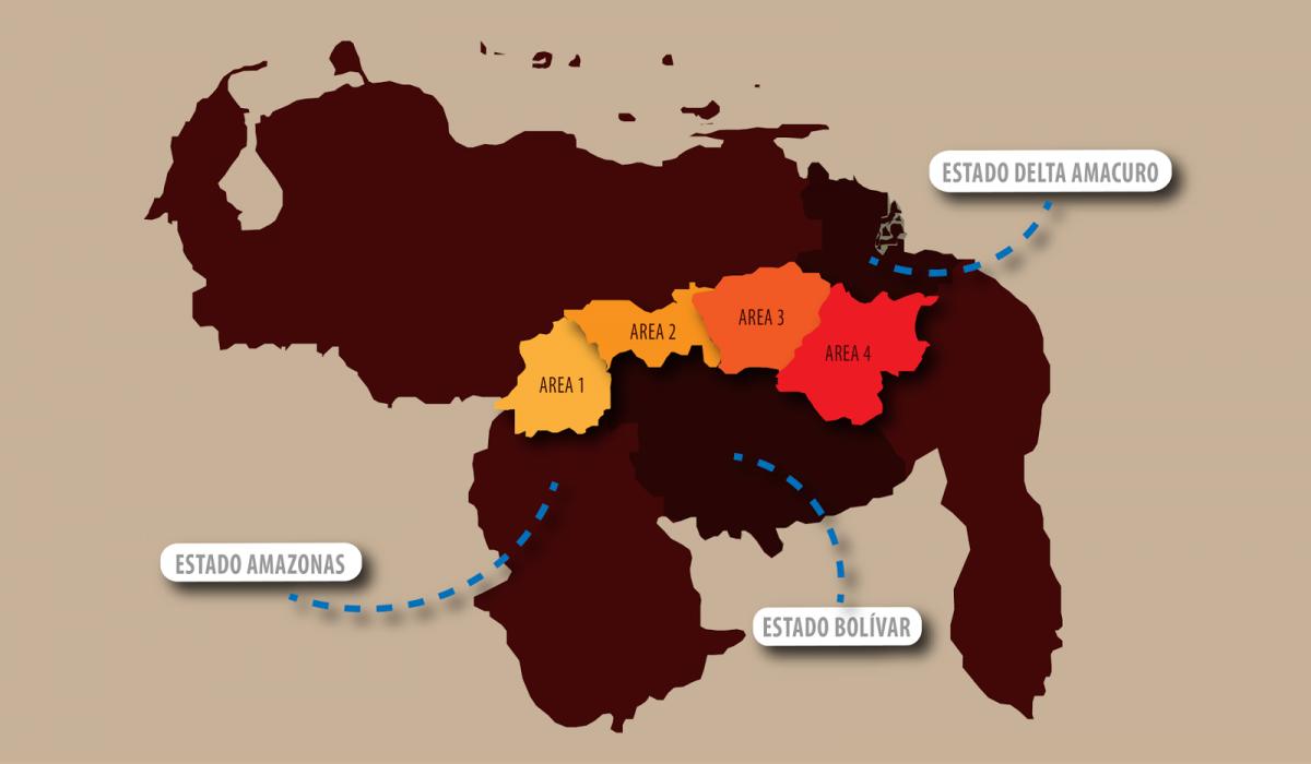 Map of the Orinoco Mining Arc (Arco Noticias)