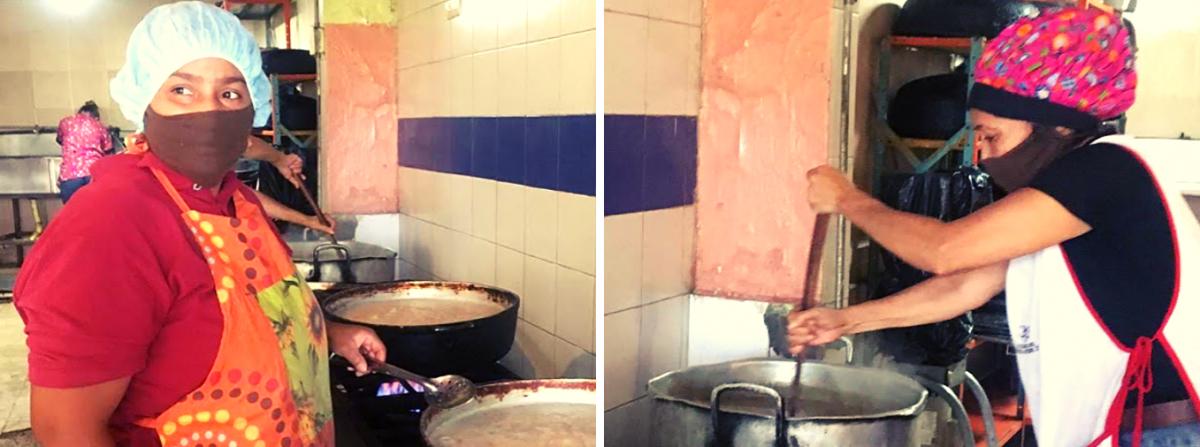 Soup kitchen under El Panal Commune control. (Javier Gomez/Venezuelanalysis)