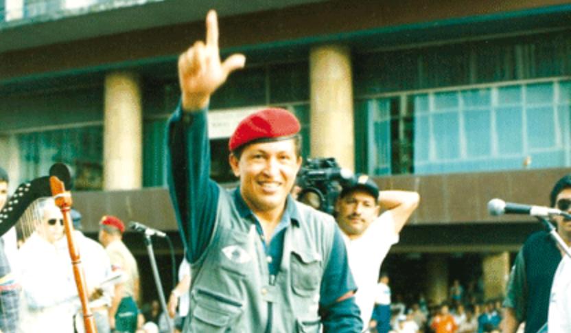 Hugo Chavez in 1994. (MinCI)