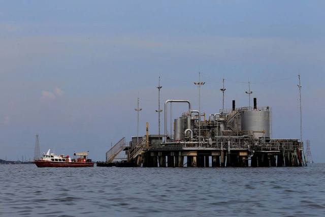 DVSA's oil installations in Lagunillas, in the Maracaibo Lake, western Venezuela