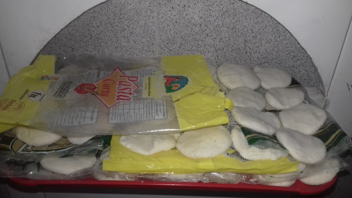 Arepas before being cooked. (Ana Felicien)