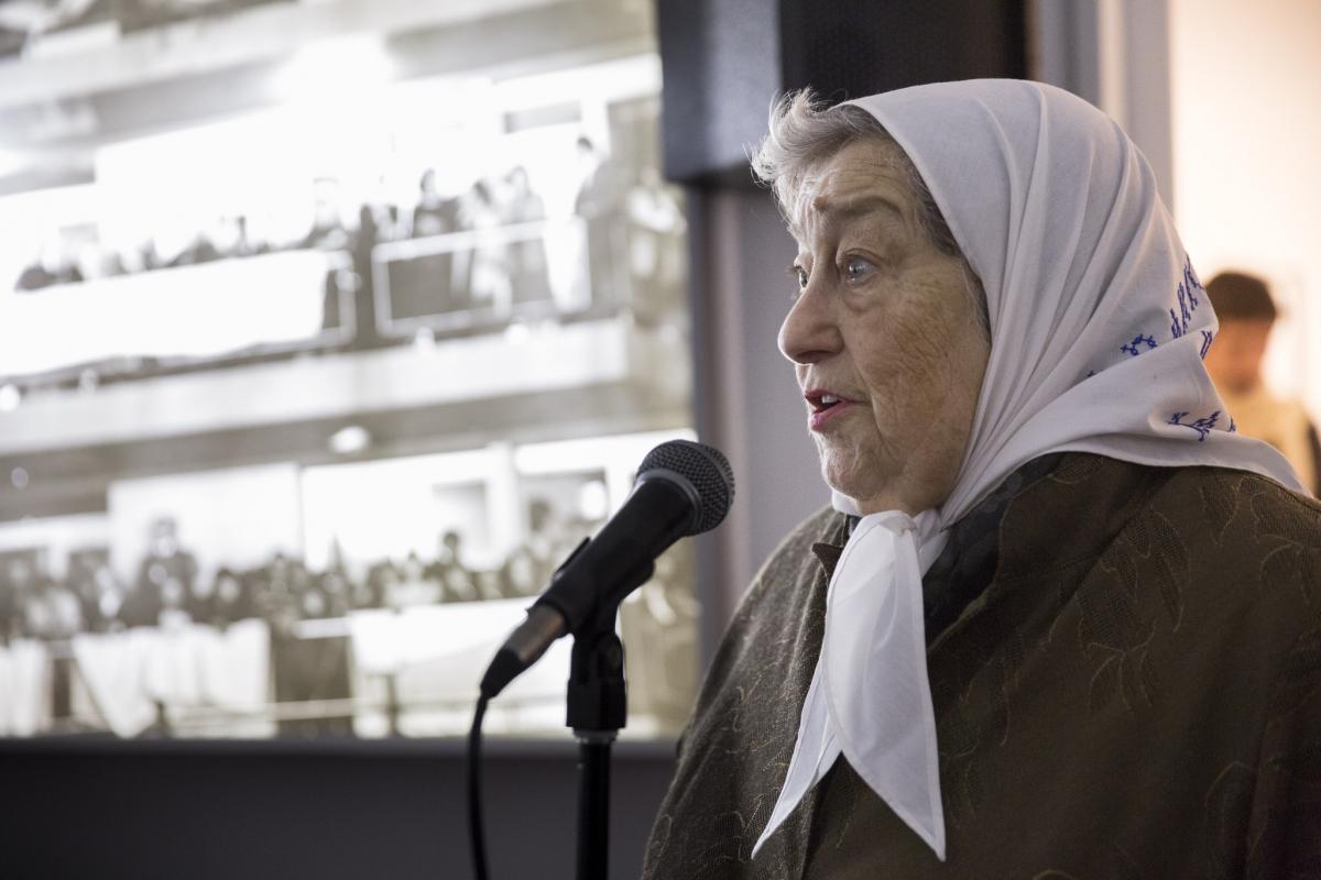 Argentine human rights activist Hebe de Bonafini Margarita deeply respected in Venezuela, particularly among Chavistas. (Solé / Ministerio de Cultura de la Nación de Argentina)
