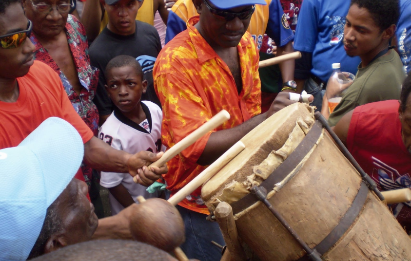 In Curiepe, a former cocoa plantation town in Barlovento, improvisational drumming is part of all local festivities. (Reference)