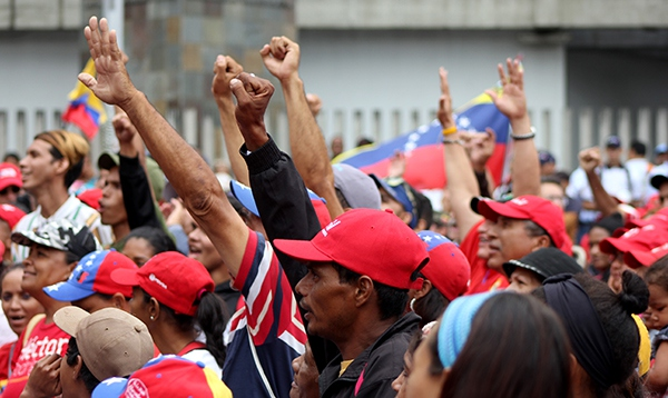 Youth and workers from different sectors manifested in favor of Maduro in Caracas, May Day 2018  (Credit:  Eduardo Viloria Daboín/CBRZ.org)