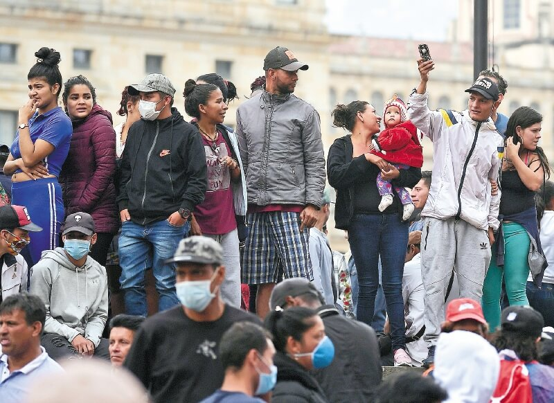 Colombia's capital Bogota is facing a problem of what to do with evicted Venezuelan migrants. (Mauricio Alvarado)