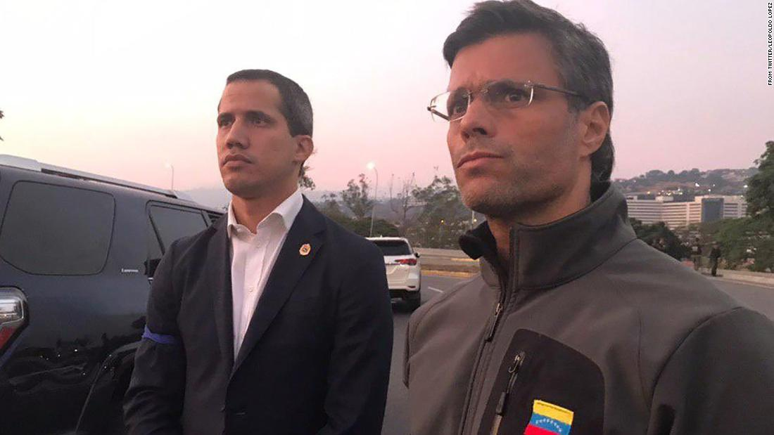 The military coup attempt led by Juan Guaido and Leopoldo Lopez was unsuccessful. (@leopoldolopez)