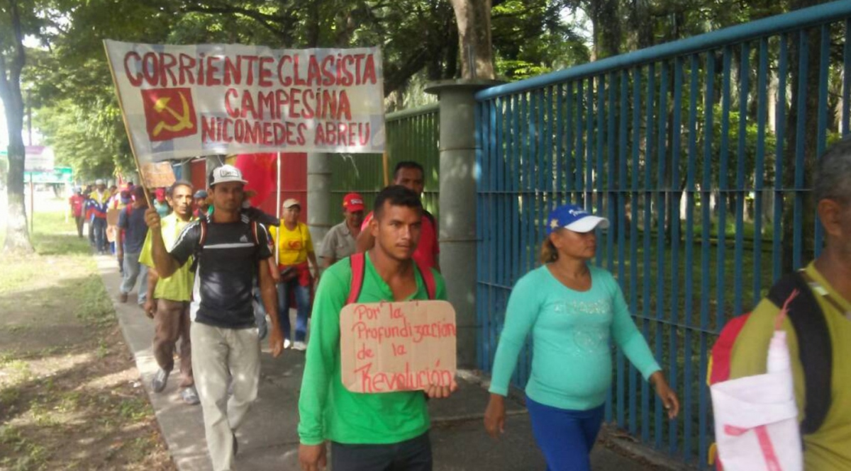 Marchers arrive at Cojedes state on day 4 of the Admirable Campesino March