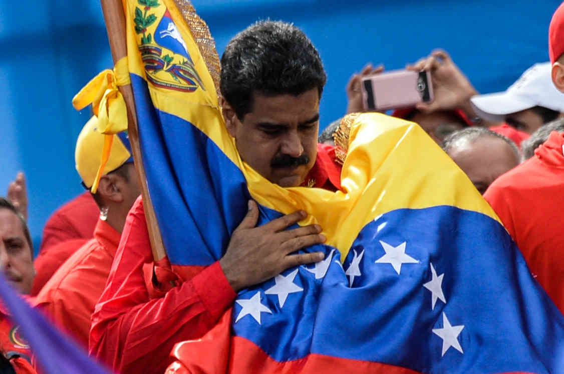 Maduro has confronted international threats to the democratic order of Venezuela (AFP)