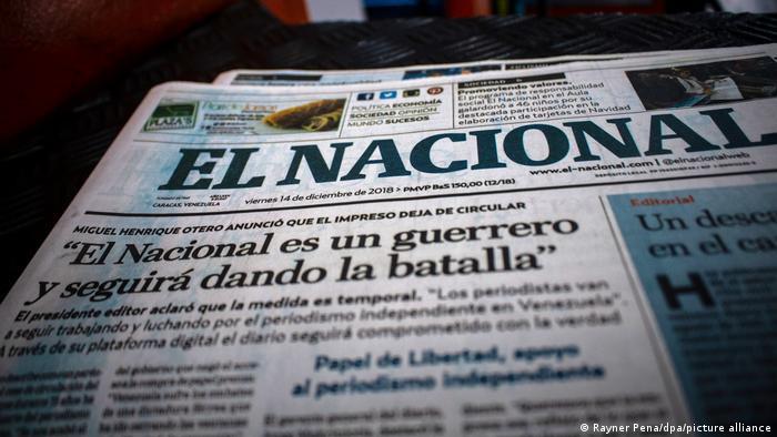 El Nacional may be forced to close operations following the libel case. (Rayner Peña / DPA)