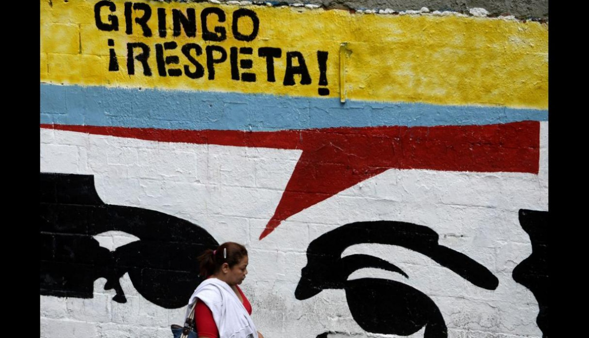 "One of many ""Gringo, Respect"" murals in Caracas. (Archive)"