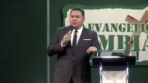 Evangelical preacher Javier Bertucci upon announcing his candidature for the presidential elections (Javier Bertucci / Facebook)