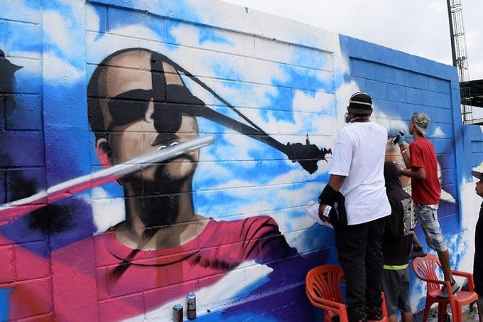 Black urban cultural production in the barrio of Petare, Caracas. (Alba Ciudad)
