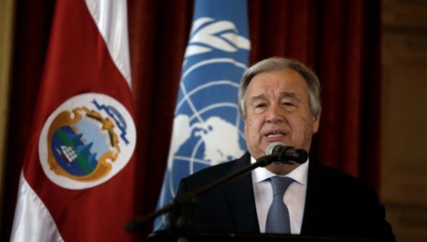 UN Secretary-General Antonio Guterres, whose position regarding the attacks was conveyed his deputy spokesperson.  (Reuters)