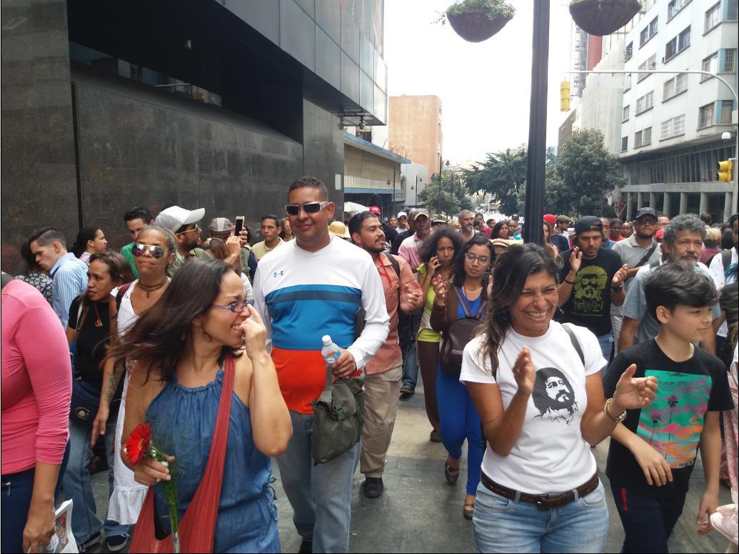 Venezuelan artists marched to honor Ali Primera (Ricardo Vaz)