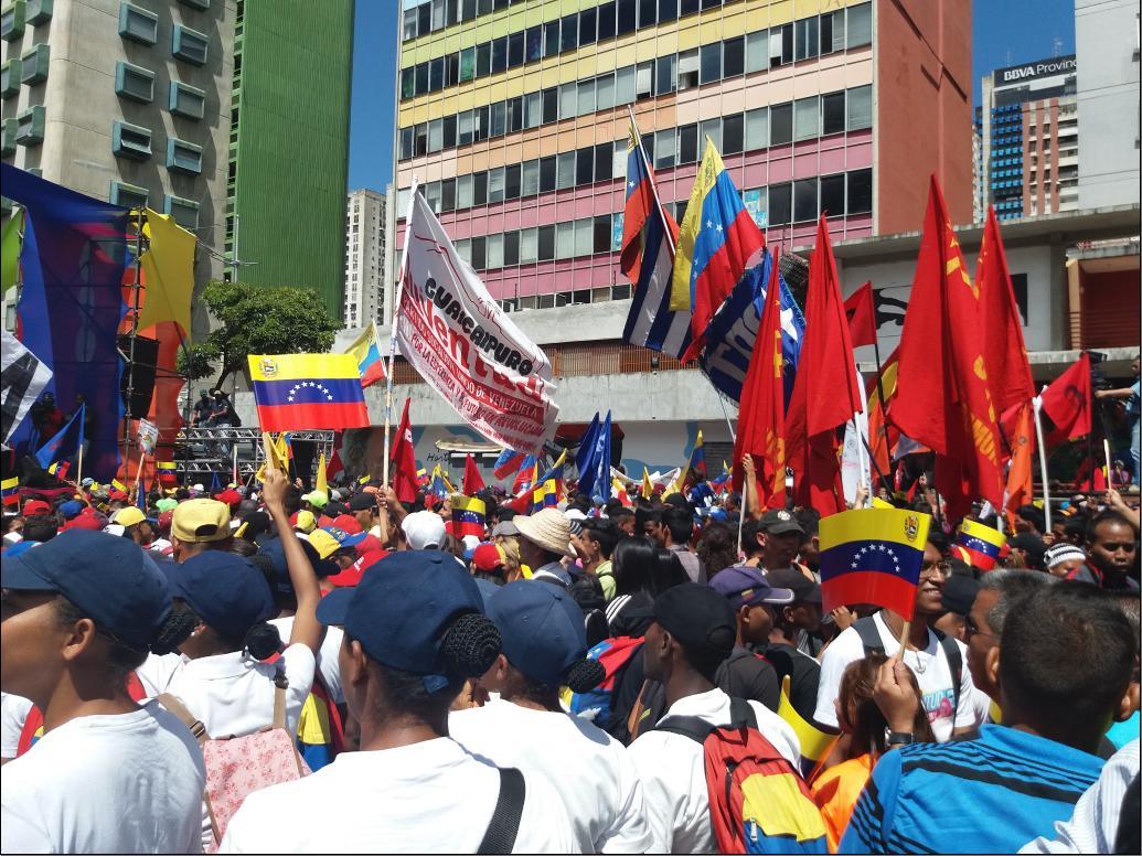 The march was held in Av. Universidad, before turning towards Caracas' Plaza Bolivar (Ricardo Vaz)
