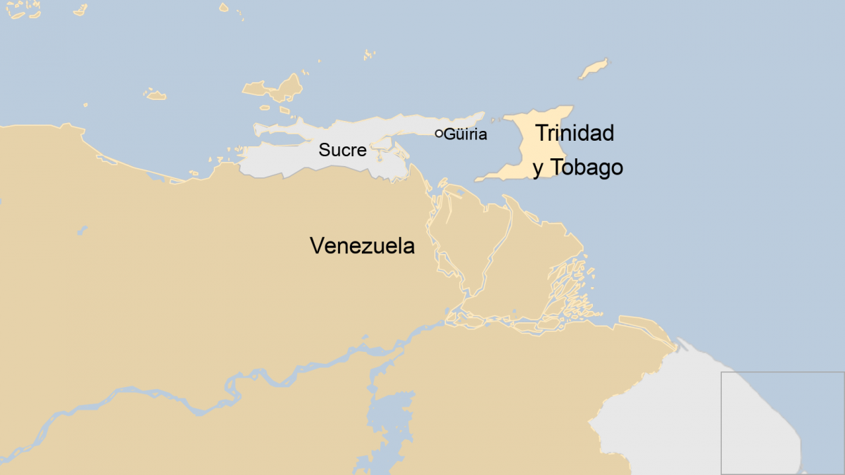Trinidad and Tobago sits nearly 100 kilometres off Venezuela's north-eastern coast. (BBC)