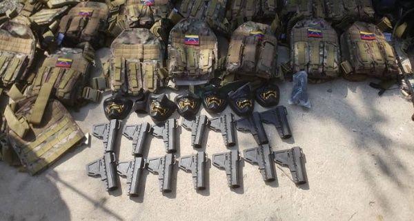 Operation Gedeon weapons captured. (TeleSur)