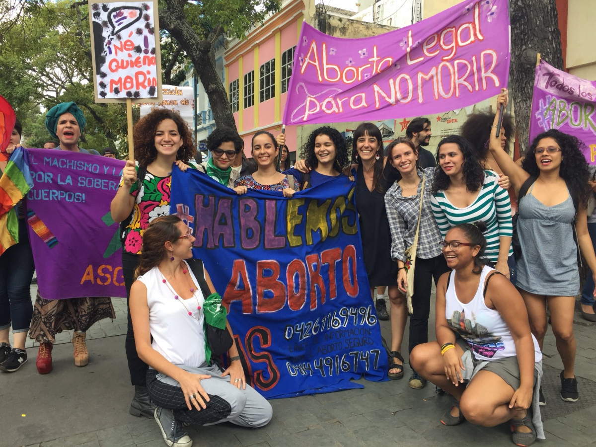 Demonstration in favour of the legalisation of abortion in Caracas, June 2018 (Red Aborto Seguro)