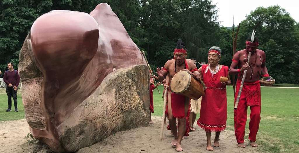 The Kueka Stone arrived back to Venezuela in April after 22 years in Germany's Global Stone art exhibition. (MPPRE)