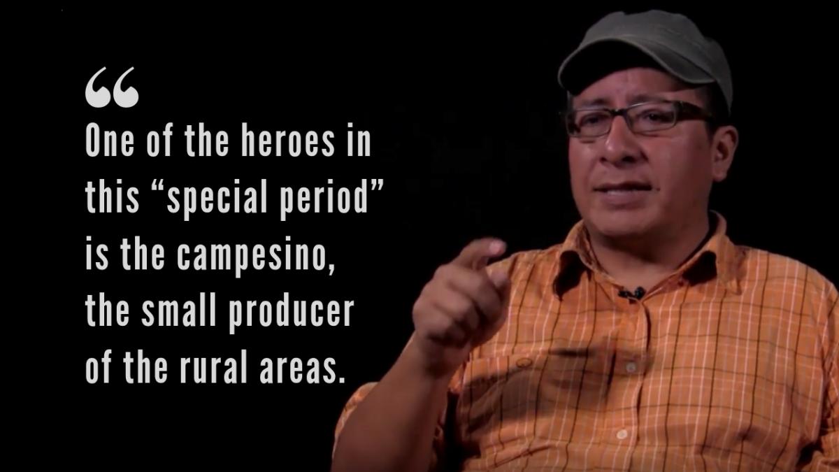 Andres Alayo is a member of the Plataforma de Lucha Campesina or Campesino Struggle Platform. (Tatuy TV)