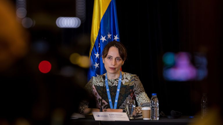 UN rapporteur Alena Douhan's report on the consequences of US sanctions against Venezuela has been largely silenced by the corporate media. (Miguel Gutiérrez / EFE)