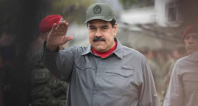 President Maduro leading a militay exercise on February 24, 2019. (Alternet)