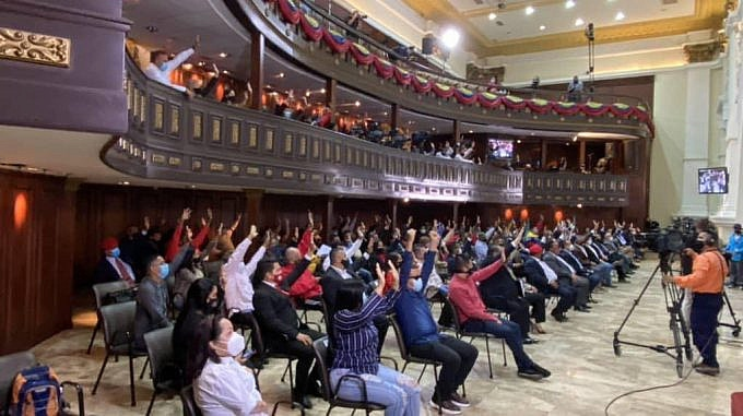 "Venezuela's National Constituent Assembly approved the ""anti-blockade law"" on Thursday. (VTV)"