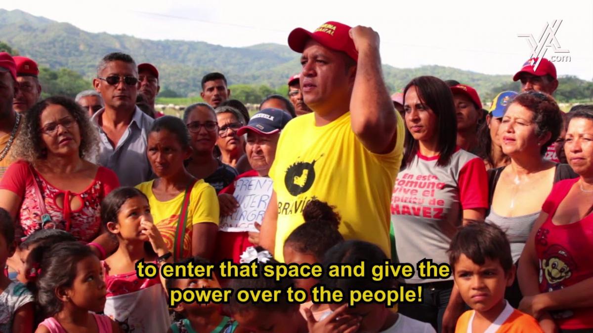 Communards from El Maizal Commune a VA video still. (Venezuelanalysis)