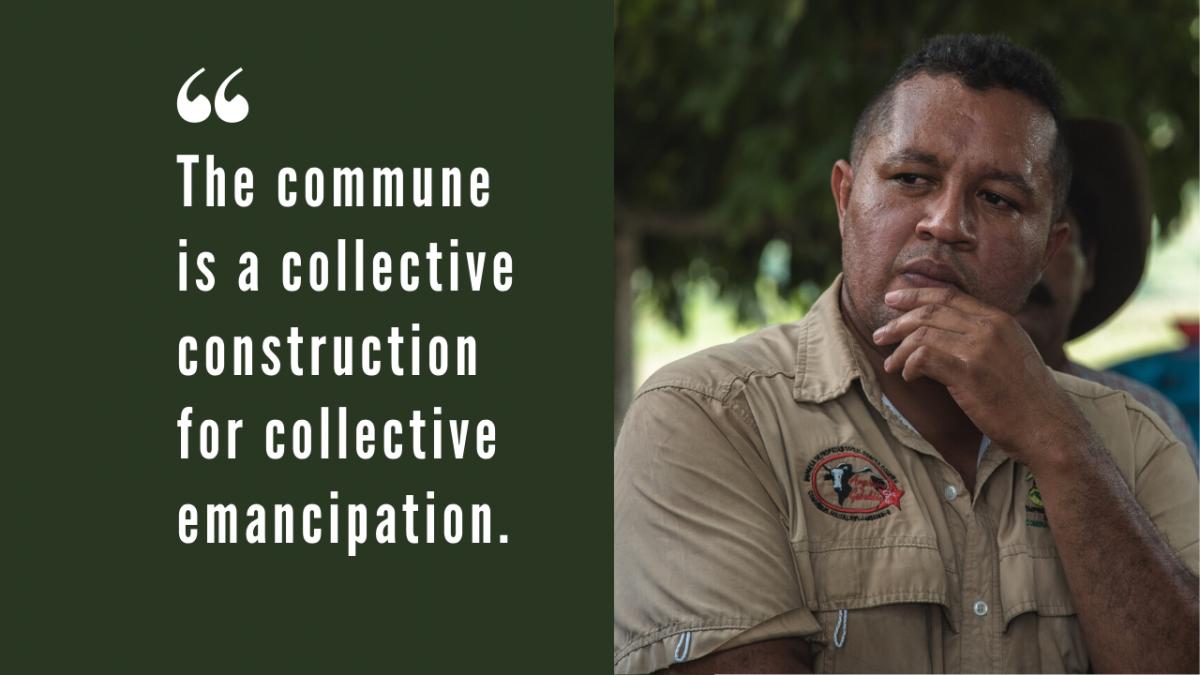 Angel Prado is the main spokesperson for El Maizal Commune. (Marcelo Volpe)