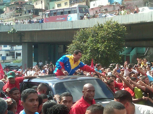 Chavez was warmly greeting in the parish in 2010. (PSUV Press)