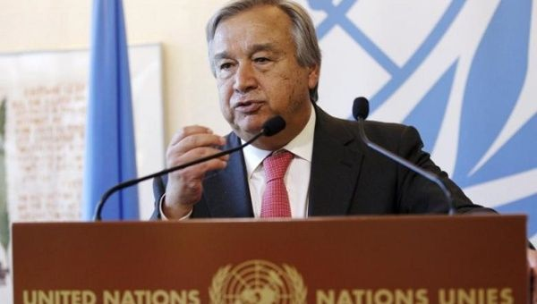 UN Secretary General António Guterres. (Reuters)