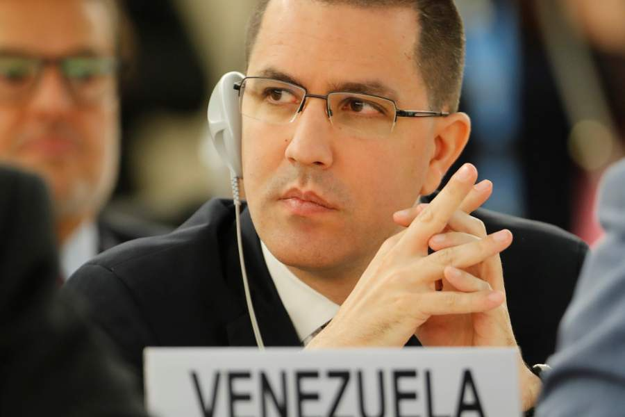Venezuela's Foreign Minister Arreaza attends the UN Human Rights Council in Geneva, Switzerland in 2018 (Denis Balibouse / Reuters)