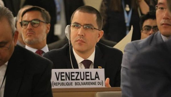 Venezuela's Foreign Minister Jorge Arreaza attends Human Rights Council meeting at the United Nations in Geneva, Switzerland, Sept. 10, 2018. (Reuters)
