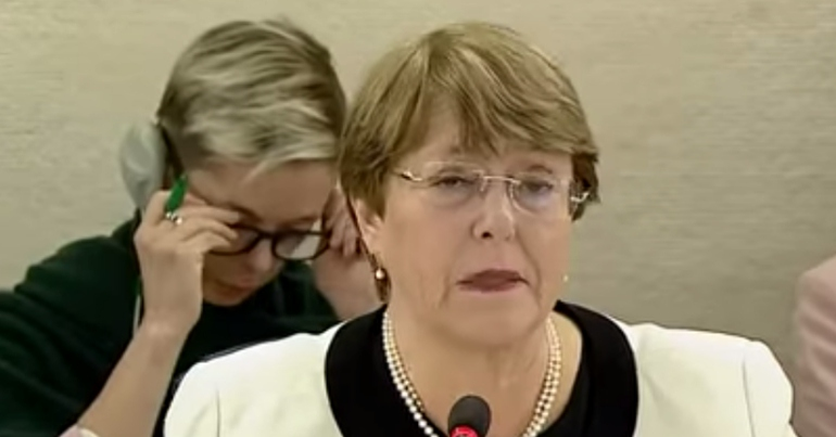 UN Human Rights Chief and former Chilean President Michelle Bachelet (Youtube)