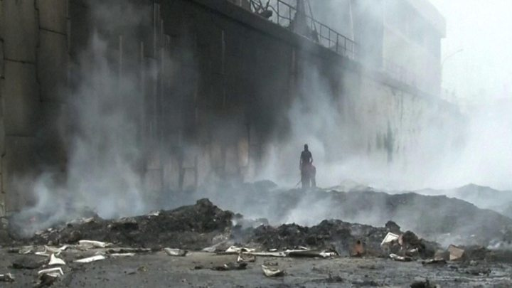 On March 7 a fire engulfed the main warehouse of the National Electoral Council outside Caracas. (BBC)