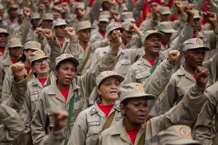 Members of the Venezuelan National Bolivarian Militia