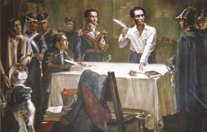 "Simon Bolivar signed the ""War to the Death"" decree on june 15, 1813. The document stated that all Spanish would die if they didn't join the independence struggle, whereas those born in the colonies would be pardoned even if they had sided with the colonia"