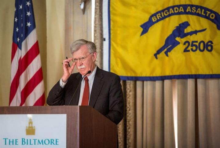John Bolton announced sanctions against Cuba, Venezuela and Nicaragua at an event commemorating the failed Bay of Pigs invasion of 1961. (EFE)