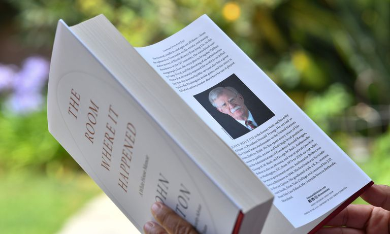"John Bolton's ""The Room Where it Happened,"" published by Simon & Schuster in June 2020. The Trump administration tried to block its release. (El Pais)"