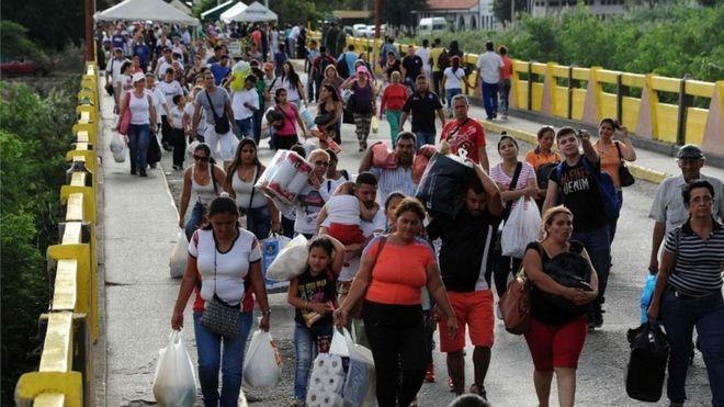 Colombia-Venezuela border crossing. (AFP)