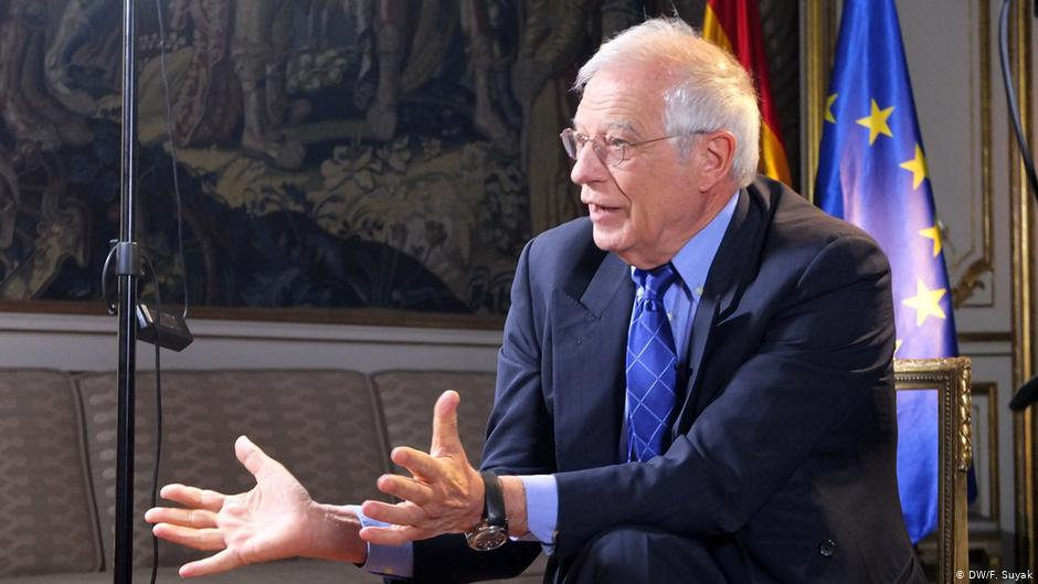 EU foreign policy chief Josep Borrell praised the new US plan. (DWF/Suyak)