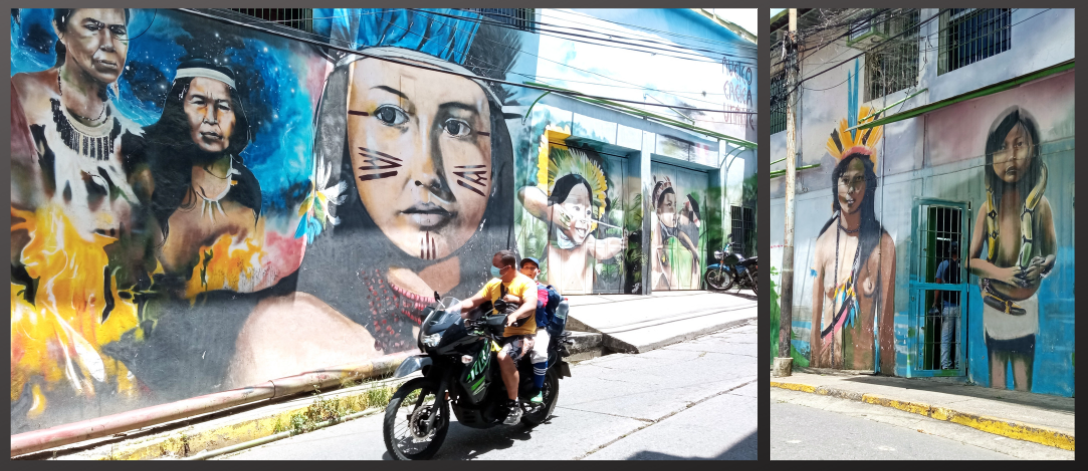 Murals outside the Cacica Urimare nucleus of Otro Beta, Petare South. (Otro Beta)